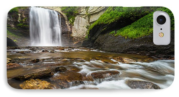 Looking Glass Falls - North Carolina Blue Ridge Waterfalls Wnc Phone Case by Dave Allen