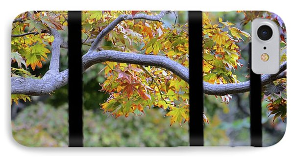 Looking In The Japanese Garden IPhone Case by Alex King