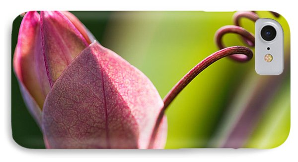 Looking Into A Pink Bud Phone Case by Michelle Wiarda-Constantine