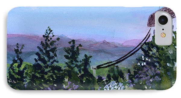 Looking Out From Top Of Jay Peak  IPhone Case by Donna Walsh