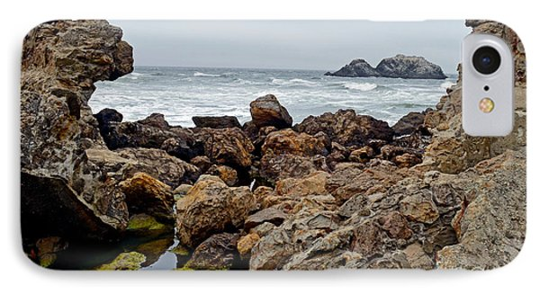 Looking Out On The Pacific Ocean From The Sutro Bath Ruins In San Francisco IIi Phone Case by Jim Fitzpatrick
