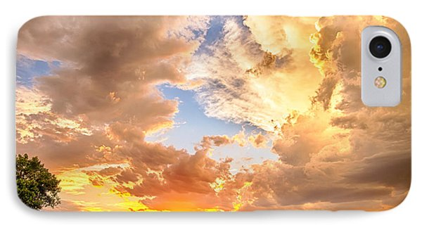 Looking Through The Colorful Sunset To Blue IPhone Case by James BO  Insogna