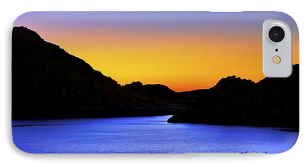 Looking Through The Quartz Mountains At Sunrise - Lake Altus - Oklahoma IPhone Case