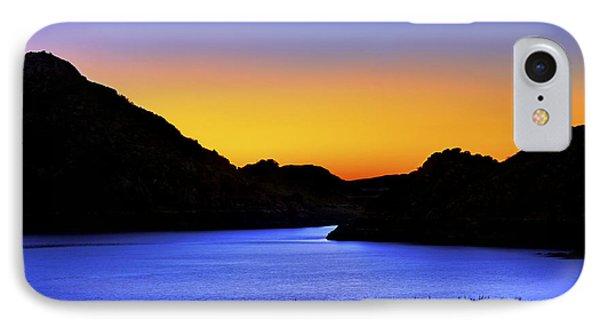 Looking Through The Quartz Mountains At Sunrise - Lake Altus - Oklahoma IPhone Case by Jason Politte