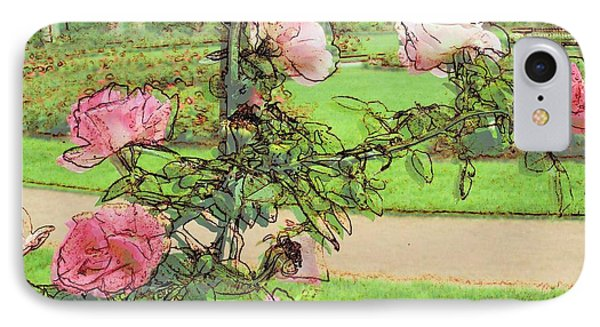 Looking Through The Rose Vine Phone Case by Stephanie Hollingsworth