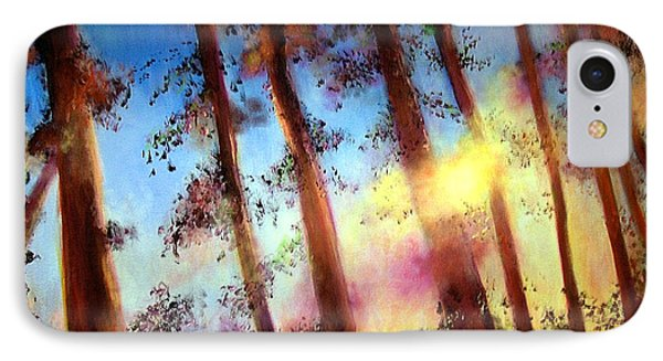 IPhone Case featuring the painting Looking Through The Trees by Alison Caltrider