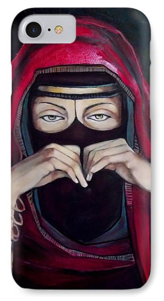 IPhone Case featuring the painting Looking Through Niqab by Irena Mohr