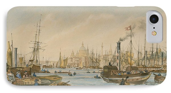 Looking Towards London Bridge IPhone Case by William Parrot