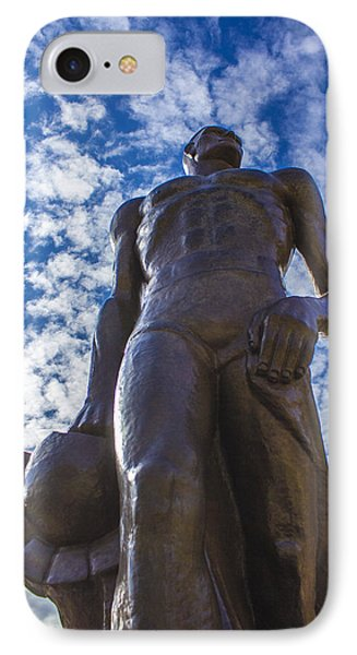 Looking Up At The Spartan Statue IPhone Case by John McGraw