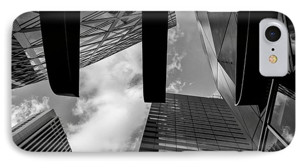 Looking Up In Downtown Tokyo IPhone Case by Dean Harte