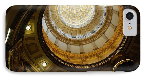 Looking Up The Capitol Dome - Denver IPhone Case by Dany Lison