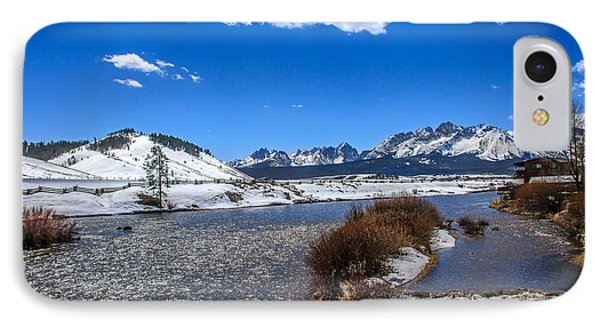 Looking Up The Salmon River Phone Case by Robert Bales