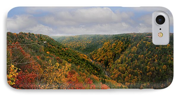 Looking Upriver At Blackwater River Gorge In Fall From Pendleton Point IPhone Case by Dan Friend
