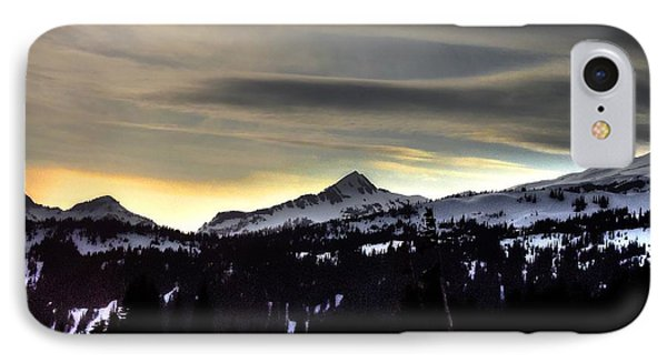Looking West At Pyramid Peak IPhone Case by Peter Mooyman