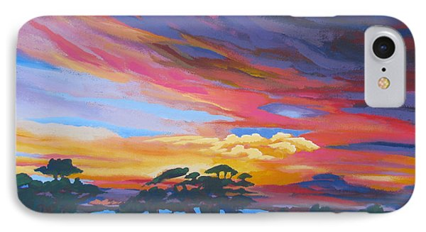 Looking West From Amador Hills Phone Case by Vanessa Hadady BFA MA