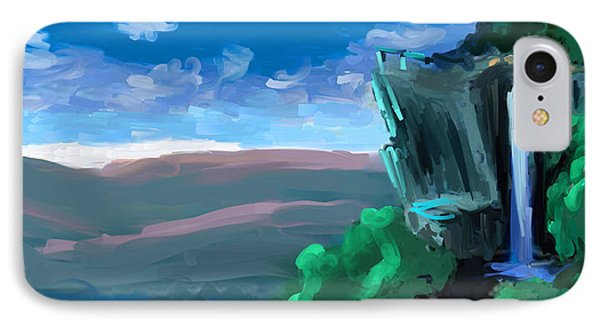 IPhone Case featuring the painting Lookout Mountain Chattanooga Tennessee by Steven Lebron Langston