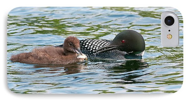 Loon And Baby IPhone Case