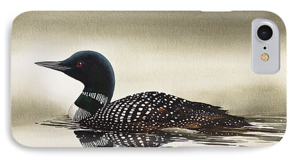 Loon In Still Waters IPhone 7 Case by James Williamson