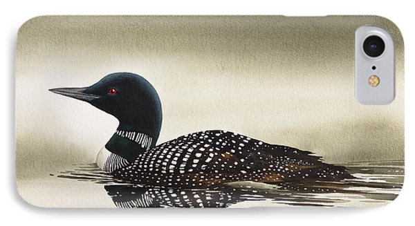 Loon In Still Waters IPhone Case by James Williamson
