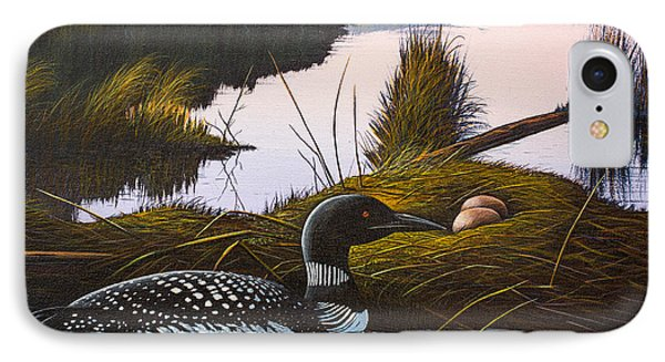 Loon Lake IPhone Case by Richard Faulkner