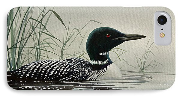 Loon Near The Shore IPhone 7 Case by James Williamson
