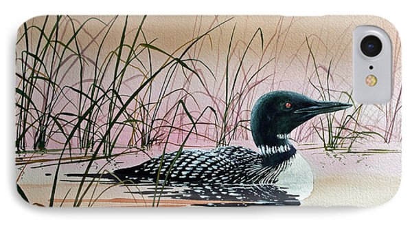 Loon Sunset Phone Case by James Williamson