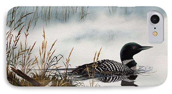 Loons Misty Shore IPhone Case by James Williamson