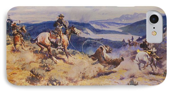 Loops And Swift Horses Are Surer Then Lead Phone Case by Charles Russell