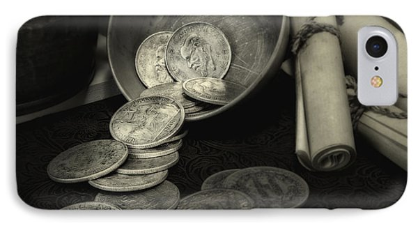 Loose Change Still Life IPhone Case by Tom Mc Nemar