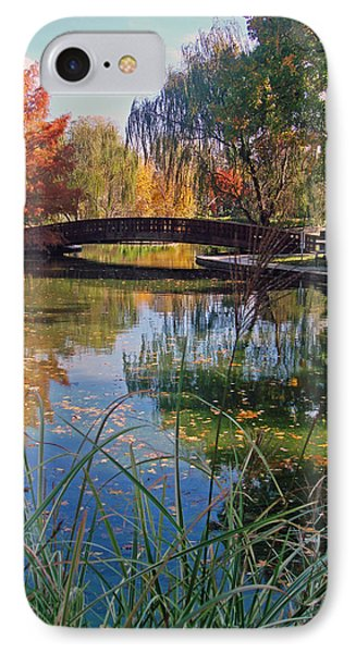 Loose Park In Autumn IPhone Case by Ellen Tully