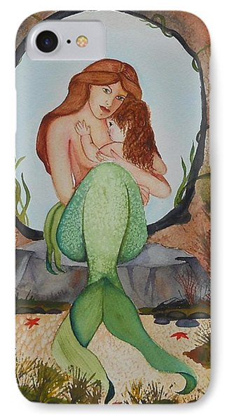 Loralie And Her Daughter IPhone Case by Virginia Coyle