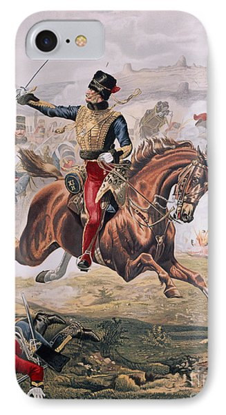 Lord Cardigan Leading The Charge Of The Light Brigade At The Battle Of Balaklava IPhone Case by Henry A Payne