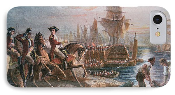 Lord Howe Organizes The British Evacuation Of Boston In March 1776 Phone Case by English School