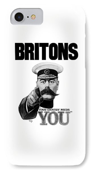 Lord Kitchener - Britons Your Country Needs You IPhone Case by War Is Hell Store