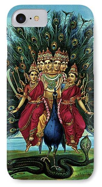 IPhone Case featuring the digital art Lord Murugan by Raja Ravi Varma