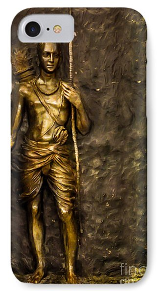 Lord Sri Ram IPhone Case by Kiran Joshi