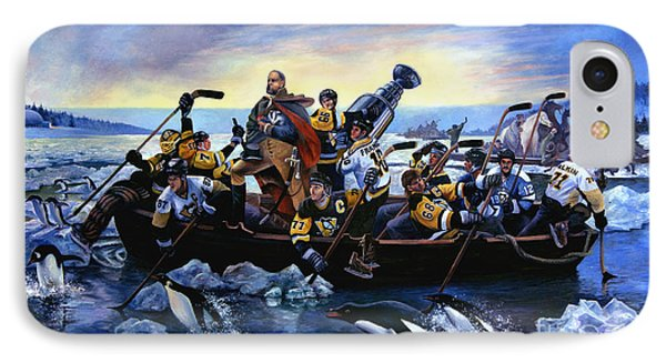 Lord Stanley And The Penguins Crossing The Allegheny IPhone Case by Frederick Carrow
