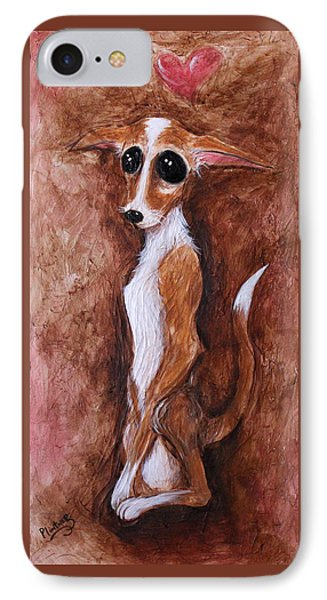 Loretta Chihuahua Big Eyes  IPhone Case by Patricia Lintner