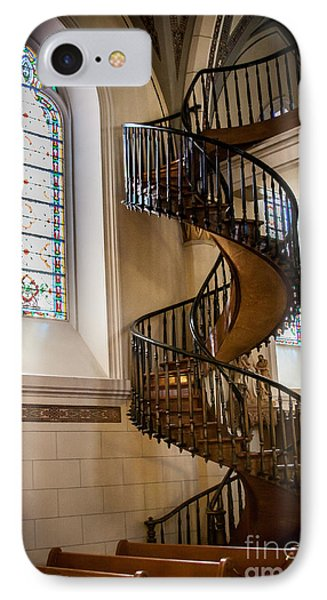 Loretto Chapel Staircase IPhone Case by Jim McCain