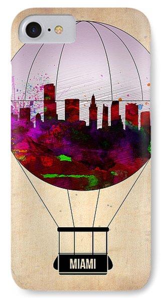 Miami Air Balloon 1 IPhone Case by Naxart Studio