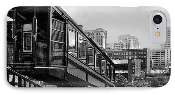 Los Angeles Angels Flight.bw IPhone Case by Jennie Breeze