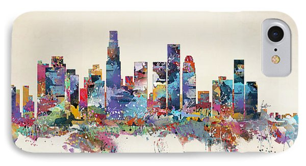 Los Angeles California Skyline IPhone Case by Bri B