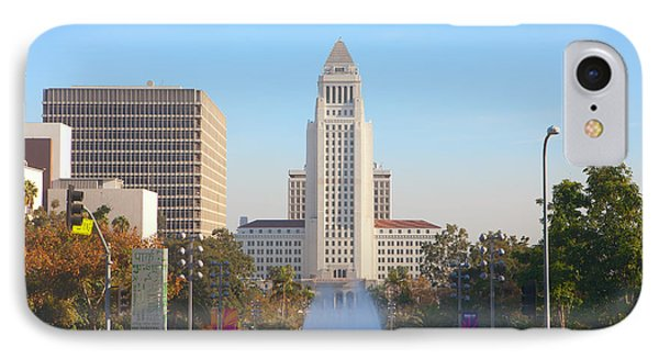 IPhone Case featuring the photograph Los Angeles City Hall by Ram Vasudev