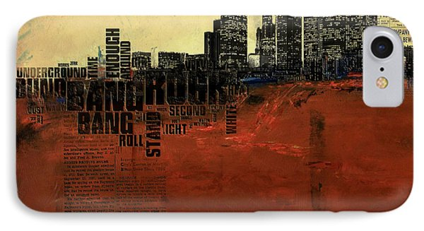 Los Angeles Collage 3 IPhone Case by Corporate Art Task Force