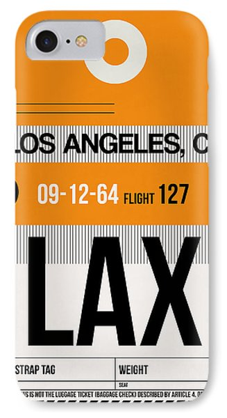 Los Angeles Luggage Poster 2 IPhone Case by Naxart Studio