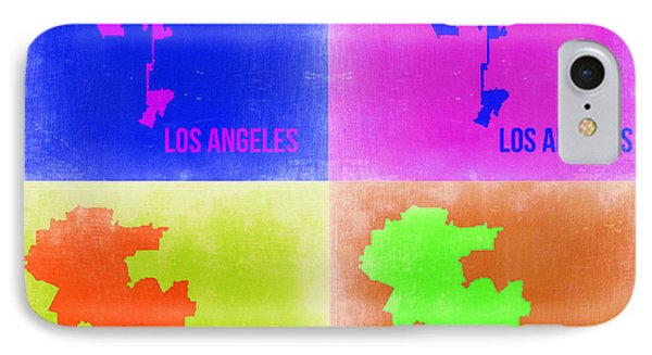 Los Angeles Pop Art Map 2 IPhone Case by Naxart Studio
