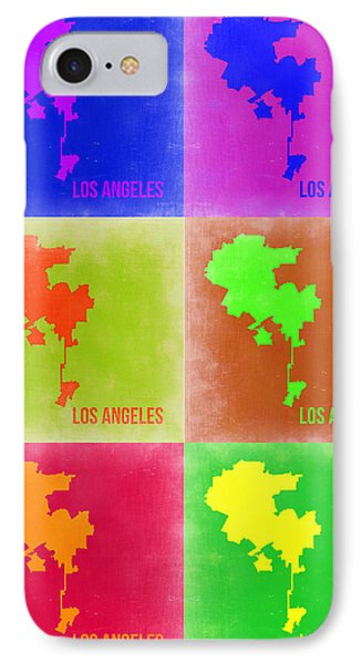 Los Angeles Pop Art Map 3 IPhone Case by Naxart Studio