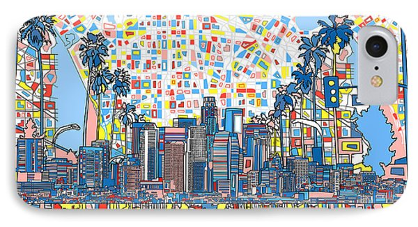Los Angeles Skyline Abstract 3 IPhone 7 Case