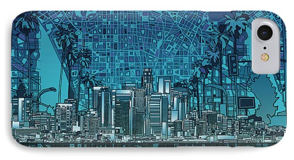 Los Angeles Skyline Abstract 5 IPhone 7 Case