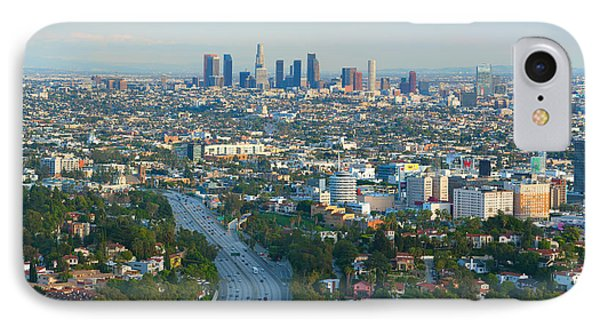 IPhone Case featuring the photograph Los Angeles Skyline And Los Angeles Basin Panorama by Ram Vasudev